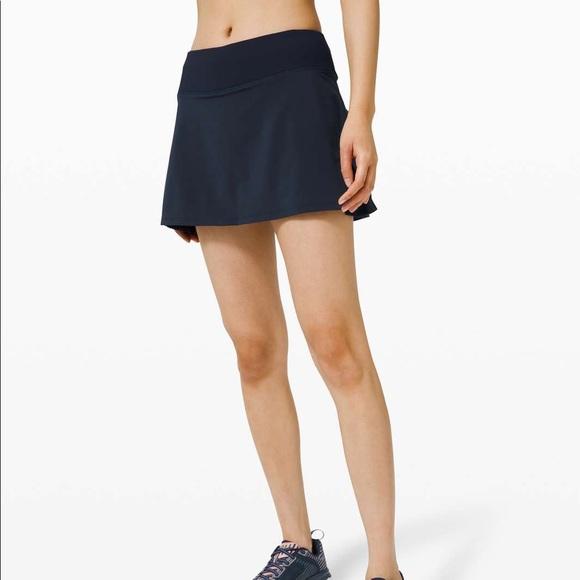 NWT Lululemon Play Off The Pleats Skirt - Navy
